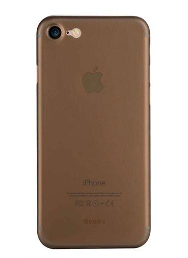 MobilCadde Benks Lollipop iPhone 7 / 8 İnce Şeffaf Siyah Rubber Kılıf Renksiz